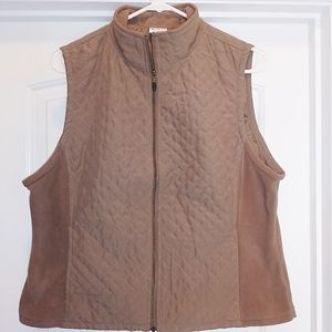 Columbia Large Brown Zip Vest with Pockets